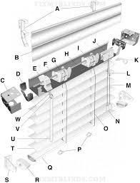 mini blind parts diagram mini blind parts