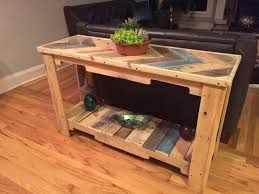 diy pallet sofa table. Diy Pallet Sofa Table Tutorial Wood Reclaimed | 101 Pallets T