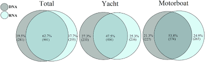 Compare Dna And Rna Venn Diagram Venn Diagrams Showing The Percentage Of Dna Only Shared