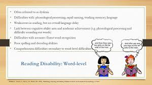 characteristics of disabilities sped jessica hovland kary 6 reading
