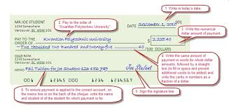 How To Personal Cheques Kpu Ca Kwantlen Polytechnic University