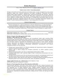 Sample Supply Chain Management Cover Letter Resume For Supply Chain