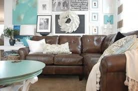 Charming Decorating With A Brown Sofa