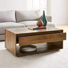 40 l box coffee table hinged lift top storage rustic solid mango wood. Anton Solid Wood Storage Coffee Table