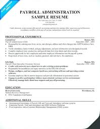 Payroll Resume Samples Payroll Manager Resume Foodcity Me