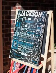 nautical theme birthday party 1st birthday chalkboard