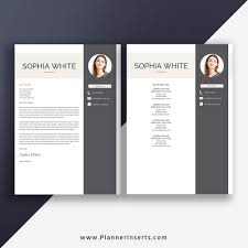 Coverpage Template Microsoft Word Resume Template 2019 Cover Letter Job Resume Editable Modern Cv Template 1 3 Page Best Resume Design Instant Download Sophia