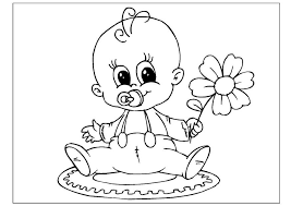 Kleurplaat Jongen Geboren Geburt Malvorlagen Kleurplatenlcom