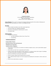 Examples Of Objectives First Class Objectives For Resumes Sample