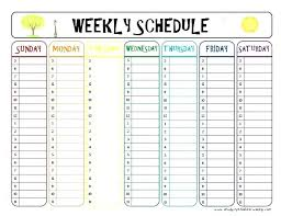 Homework Agenda Templates Weekly Schedule Template Word Vision Pictures Cute With Medium Image