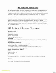 Cover Letter Human Resource Resume New 21 Human Resources Resume