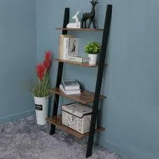 4 tier ladder shelving rack unit