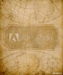 Old Map Cover Template Or Background Buy This Stock Photo