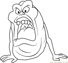 Small Picture Slimer Coloring Page Free Ghostbusters Coloring Pages