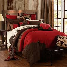 delectably yours decor red rodeo western bedding comforter set pillows