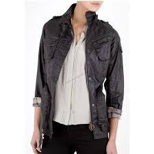 womens black las tartan duralinen international barbour jacket