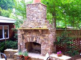 outdoor stone fireplace 4