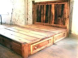 Rustic Bed Frame Ideas King Size Platform Bed Frame Plans Rustic ...