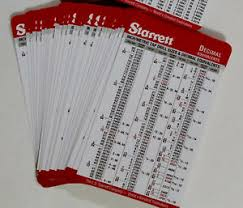 Details About 50 Pack Starrett Machinist Drill And Tap Pocket Cards Decimal Metric Charts