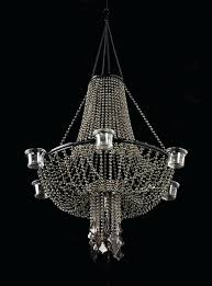 stunning faux candle chandeliers i8589169 beaded empire candle holder chandelier faux metal faux pillar candle chandelier lighting