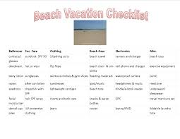 Vacation Checklist Beach Vacation Essentials Planning Packing For Your Beach