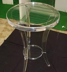 perspex furniture. CIRCULAR TRIPOD TABLE Perspex Furniture