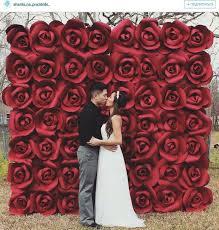 Red Paper Flower Paper Flowers Backdrop Diy Wedding Backdrop Wedding