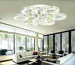 clear acrylic round flushmount chandelier