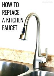 how to change out a faucet