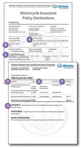 Insurance for multiple locations & businesses. Motorcycle Insurance Policy Declarations Allstate