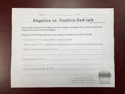 positive thoughts in first and second grades school counseling negative to positive self talk worksheet 2nd grade jan 2015