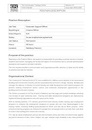 Best Of Job Description Template Templates Design