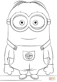 Small Picture Minion Dave coloring page Free Printable Coloring Pages