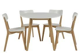 Table Ronde Blanche Et Bois Petite Table De Cuisine Avec Rallonge