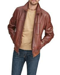 Andrew Marc Men's Vaughn Zip-Front Leather Jacket | Neiman Marcus