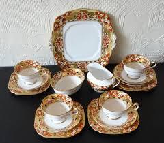 Royal Albert Hawthorne Circa 1930 Part Tea Set Plate Avon Cup Saucer Jug  Bowl | eBay | China tea sets, Orange tea cups, Tea cups