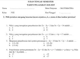 Download ppt matematika smp kelas viii / semester 2. Soal Uts Smp Kelas 8 Ilmusosial Id