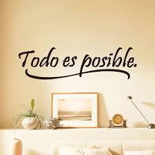 16 11 De Réductiondctop Tout Est Possible Espagnol Citations Inspirantes Sticker Mural Décor à La Maison Chambre Enfants Vinyle Mural