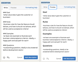 Feature Story Template New Story Description Templates Faster Better And More Consistent