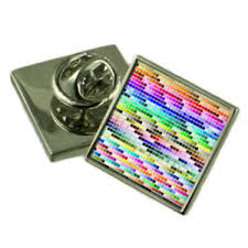 Details About Pantone Colour Chart Sterling Silver Lapel Pin Gift Box