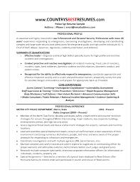 Law Enforcement Resume Template Format Curriculum Vitae Promotion