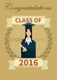 Class Of 2016 Design Class Of 2016 Graduation Poster Vector Image 1813847