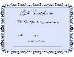 019 Free Printable Gift Certificate Template Ideas T Dreaded