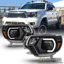 Black 2012 2013 2014 2015 Toyota Tacoma LED DRL Light Tube ...
