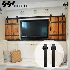 Sliding Barn Door Hardware Wood Door Closet Cabinet Track Kit Mini ...