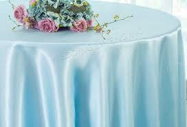 120 round satin tablecloth baby blue 55820 1pc pk