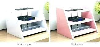 desktop shelf unit shelving over desk corner ideas house simple top printer stands with storage desktop shelf