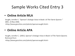 MLA works cited page   MLA Sample Works Cited Page MUST be in