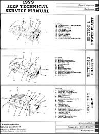1979 jeep repair shop manual original all models 1972 jeep commando wiring diagram at 1979 Jeep J10 Wiring Diagram