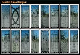 beveled glass exterior doors front door repair